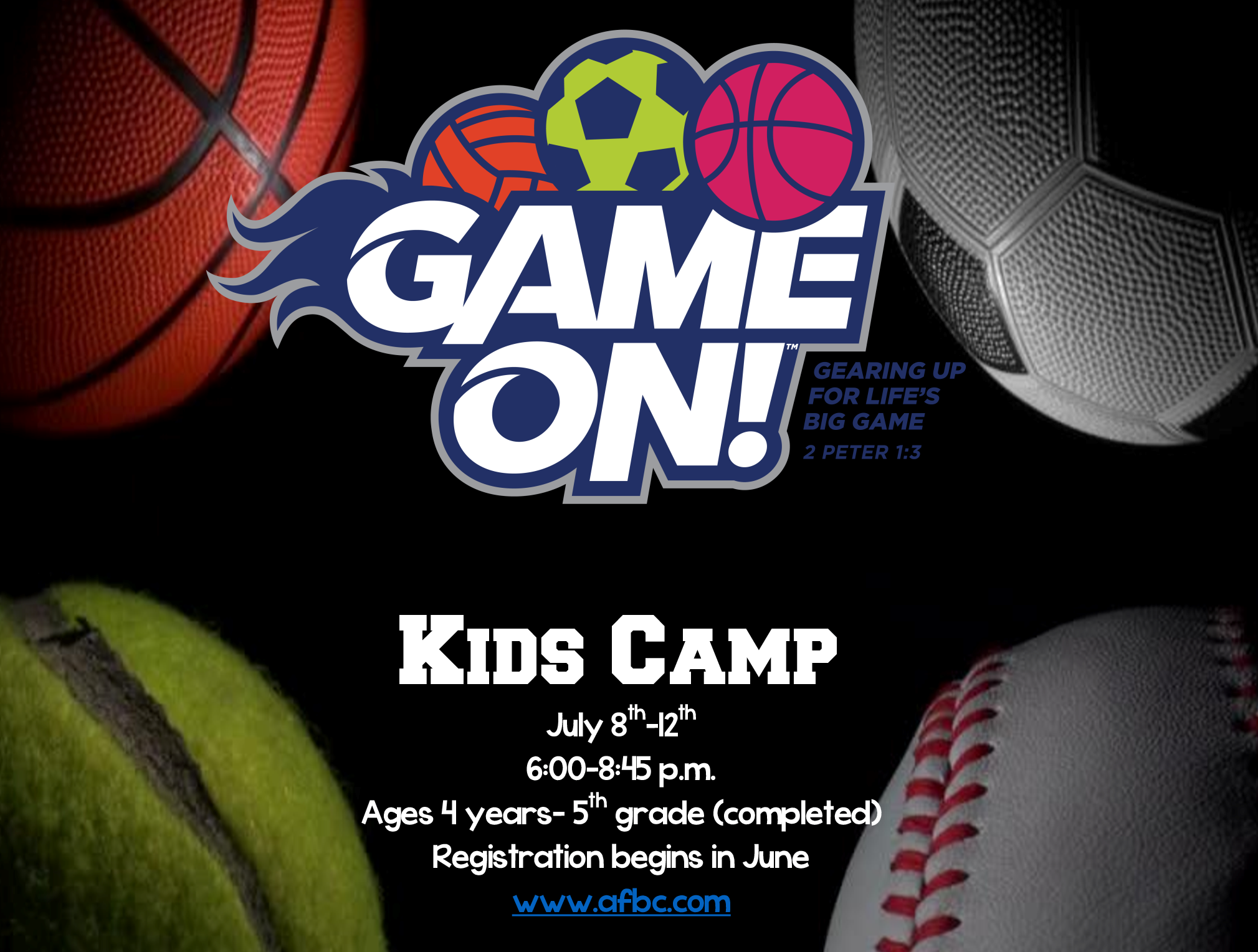 Kids Camp 2018 flyer